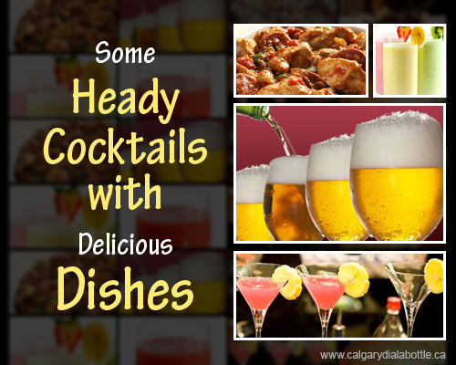 Cocktails with Delicious Dishes
