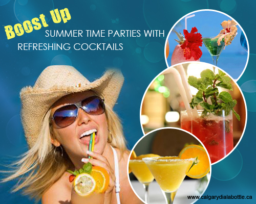 Summer Time Parties with Refreshing Cocktails